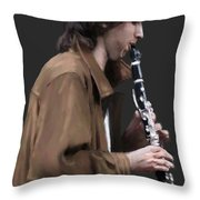The Clarinet Player Throw Pillow