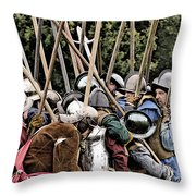 The Clash Of The Pikemen Throw Pillow