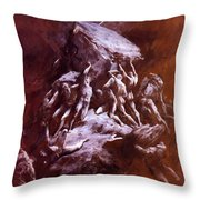 The Clash Of The Titans 1866 Throw Pillow