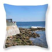 The Cliff Walk Newport Rhode Island 4 Throw Pillow