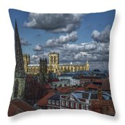 The Clifford Tower View Throw Pillow