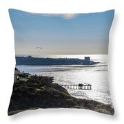 The Cliffs, Ocean And Sky At La Jolla, California Throw Pillow
