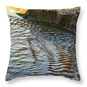 The Cliffs Of Sauble Throw Pillow