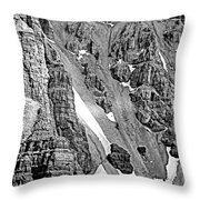 The Climb To Abbot's Hut Bw Throw Pillow