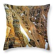 The Climb To Abbot's Hut - Paint Throw Pillow