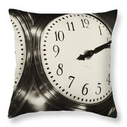 The Clock At Grand Central Throw Pillow