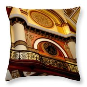 The Clock In The Union Station Nashville Throw Pillow