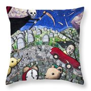 The Clock Is Ticking Throw Pillow