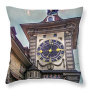The Clock Of Clocks Throw Pillow