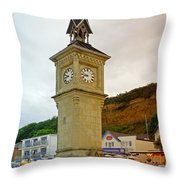 The Clock Tower At Shanklin Throw Pillow
