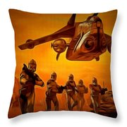 The Clone Wars Throw Pillow