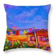 The Clothesline Throw Pillow