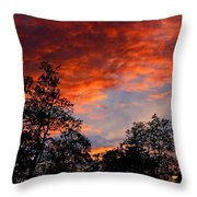 The Clouds Of Pink Throw Pillow