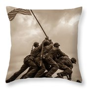 The Clouds Over Iwo Jima Throw Pillow