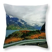 The Clouds Roll In Throw Pillow