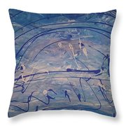 The Clouds,  The Ocean,  The Bridge  Throw Pillow