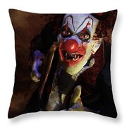 The Clown Throw Pillow by Mary Hood