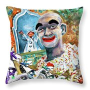 The Clown Of Tivoli Gardens Throw Pillow