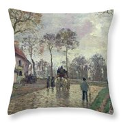 The Coach To Louveciennes Throw Pillow