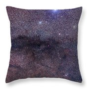 The Coalsack And Jewel Box Cluster Throw Pillow