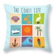 The Coast Life Throw Pillow