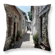 The Cobbled Back Streets Surrounding Old Marmaris Throw Pillow