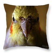 The Cockatiel Throw Pillow