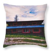 The Cockeyed Cabin Throw Pillow