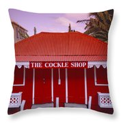 The Cockle Shop Throw Pillow