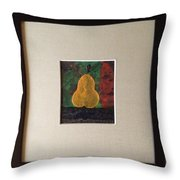 The Cold Accusative Pear Throw Pillow