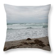 The Cold Sea Throw Pillow
