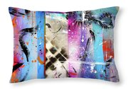 The Collage  Throw Pillow