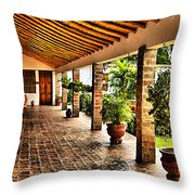 The Colonial House Throw Pillow