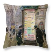 The Colonne Morris Throw Pillow