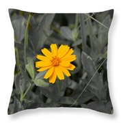 The Color Of  A Unike Flower Throw Pillow