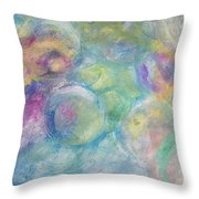 The Color Of Bubbles Throw Pillow