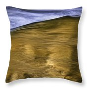 The Color Of Water Throw Pillow by Ken Barrett