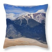 The Colorado Great Sand Dunes  125 Throw Pillow