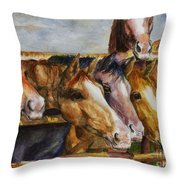 The Colorado Horse Rescue Throw Pillow