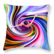 The Colorful Ballet Dress Throw Pillow