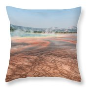 The Colorful Grand Prismatic Spring Throw Pillow