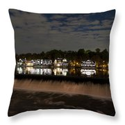 The Colorful Lights Of Boathouse Row Throw Pillow