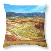 The Colorful Painted Hills In Eastern Oregon Throw Pillow