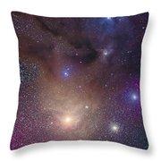 The Colorful Region Around Antares Throw Pillow