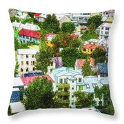 The Colors Of Reykjavik Throw Pillow