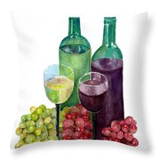 The Colors Of Wine Throw Pillow