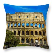 The Colosseum In Rome Italy Throw Pillow