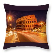 The Colosseum, Rome, Italy Throw Pillow