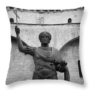 The Colossus Of Barletta Throw Pillow