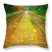 The Colour Along The Tracks Throw Pillow
